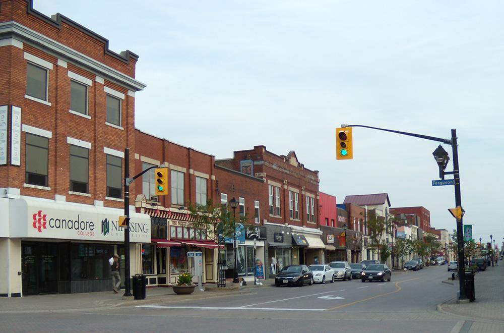 Le centre-ville de North Bay