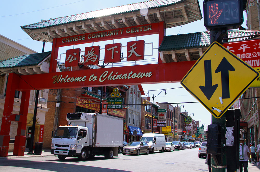 Le quartier chinois de Chicago