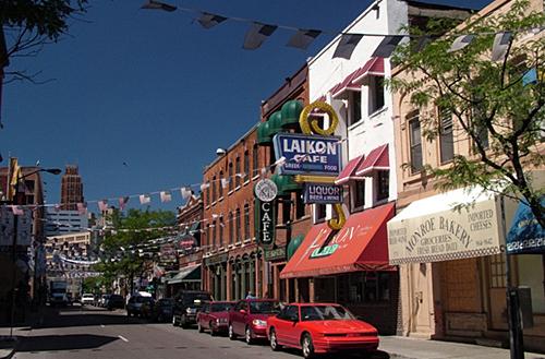 Le centre-ville de Détroit