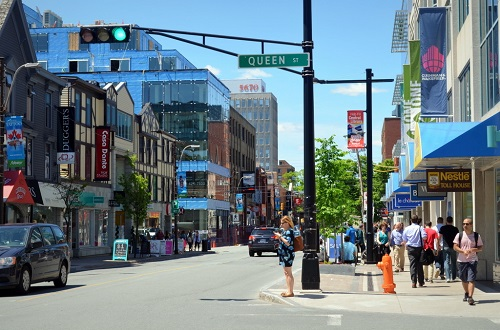 Le quartier de Spring Garden, Halifax