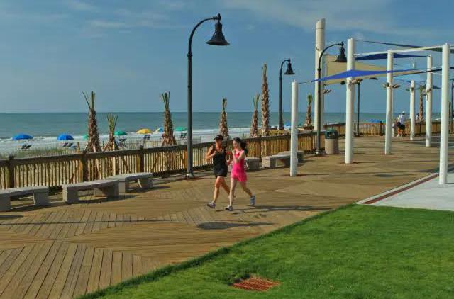 La promenade de Myrtle Beach