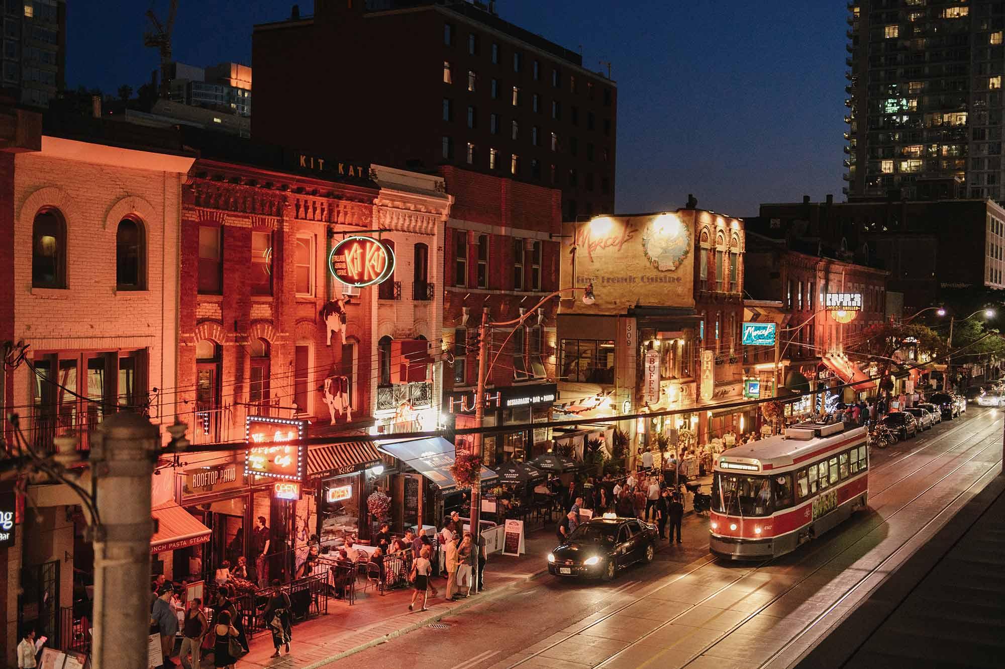 Le quartier des divertissements de Toronto