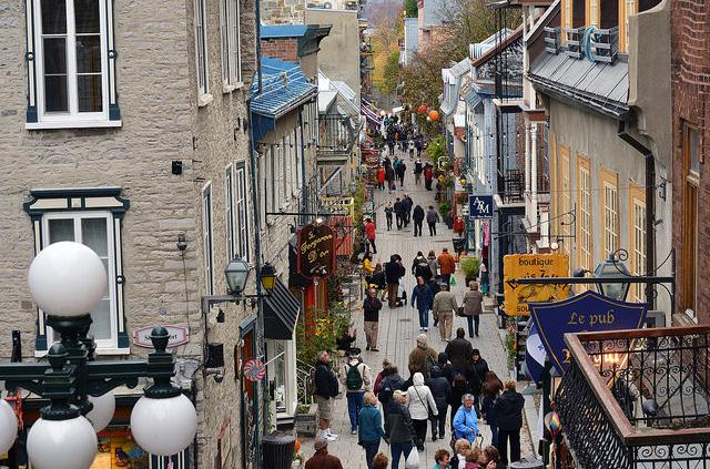 Le quartier Petit-Champlain, La ville du Québec