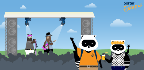 Rock out to summer music festivals with Porter Escapes!